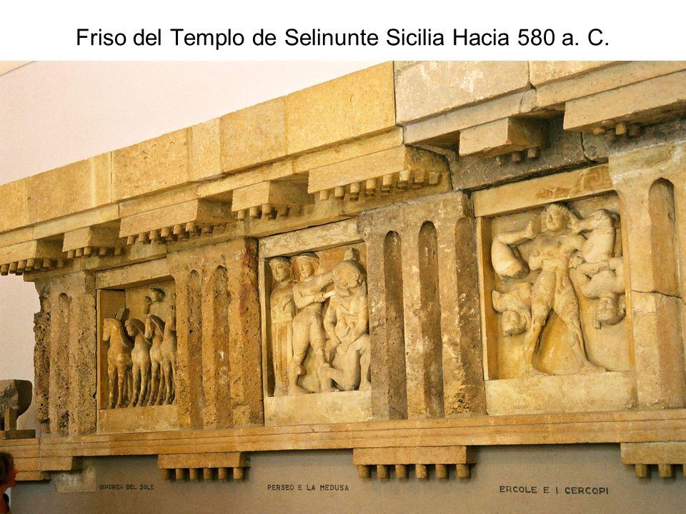 15/02/2014Pilar Morollón IES San Isidro73 Friso del Templo de Selinunte Sicilia Hacia 580 a. C.