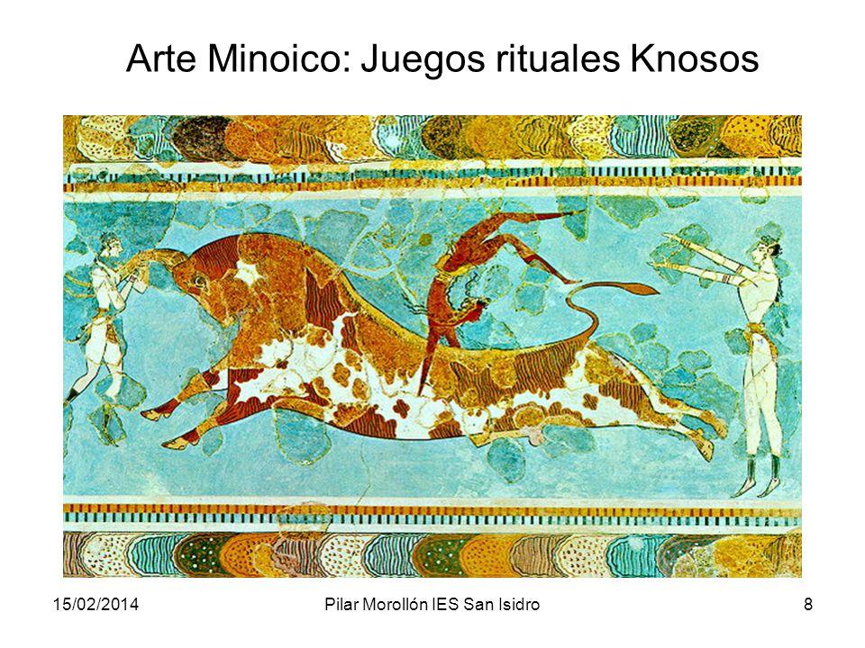 15/02/2014Pilar Morollón IES San Isidro8 Arte Minoico: Juegos rituales Knosos