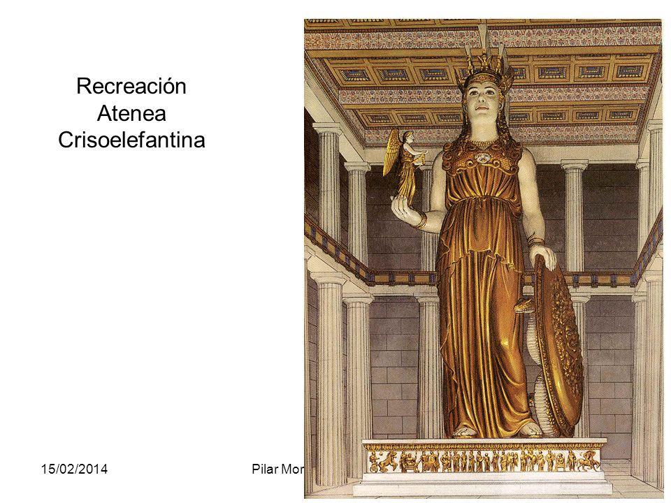 15/02/2014Pilar Morollón IES San Isidro93 Recreación Atenea Crisoelefantina