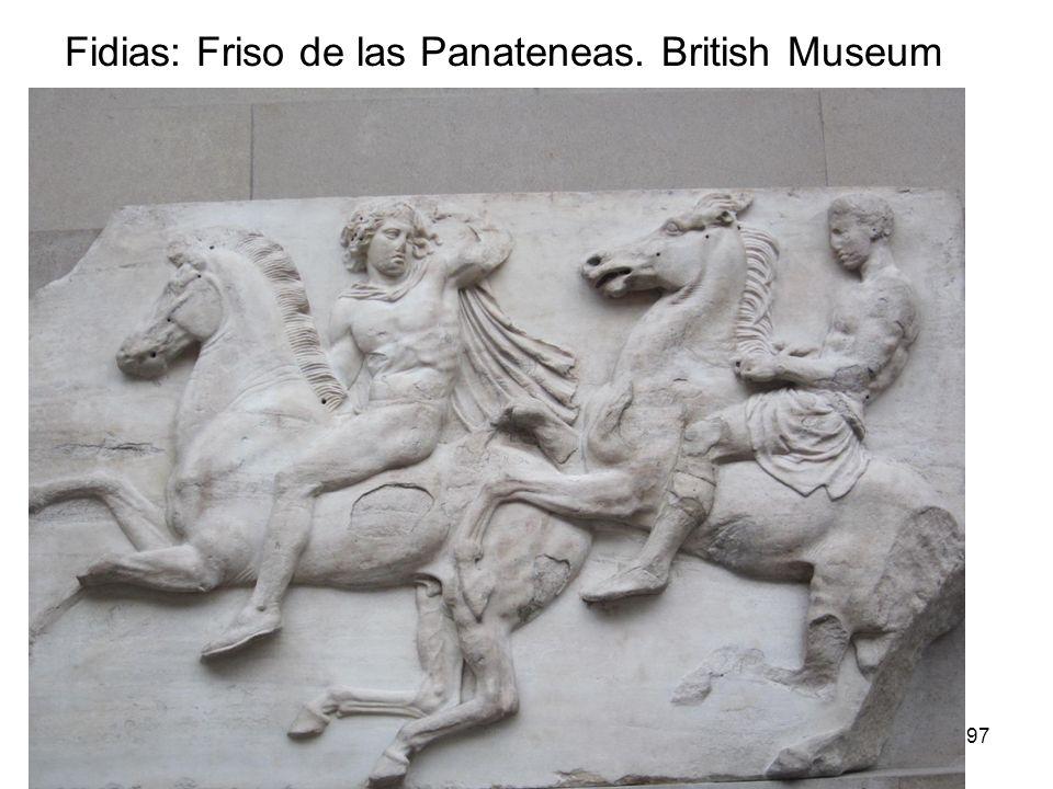 15/02/2014Pilar Morollón IES San Isidro97 Fidias: Friso de las Panateneas. British Museum