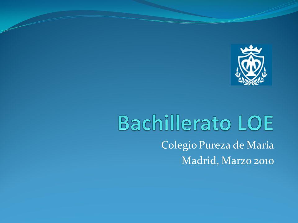 Promoción en Bachillerato LOE Se promocionará al segundo curso cuando se hayan superado todas las materias cursadas en primero o se tenga evaluación negativa en dos materias como máximo.