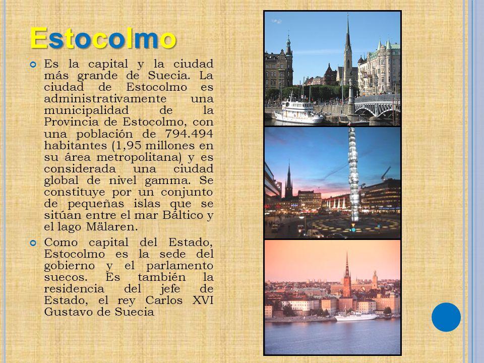 EstocolmoEstocolmoEstocolmoEstocolmo Es la capital y la ciudad más grande de Suecia. La ciudad de Estocolmo es administrativamente una municipalidad d