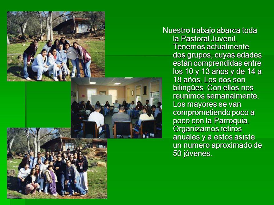 Nuestro trabajo abarca toda la Pastoral Juvenil.