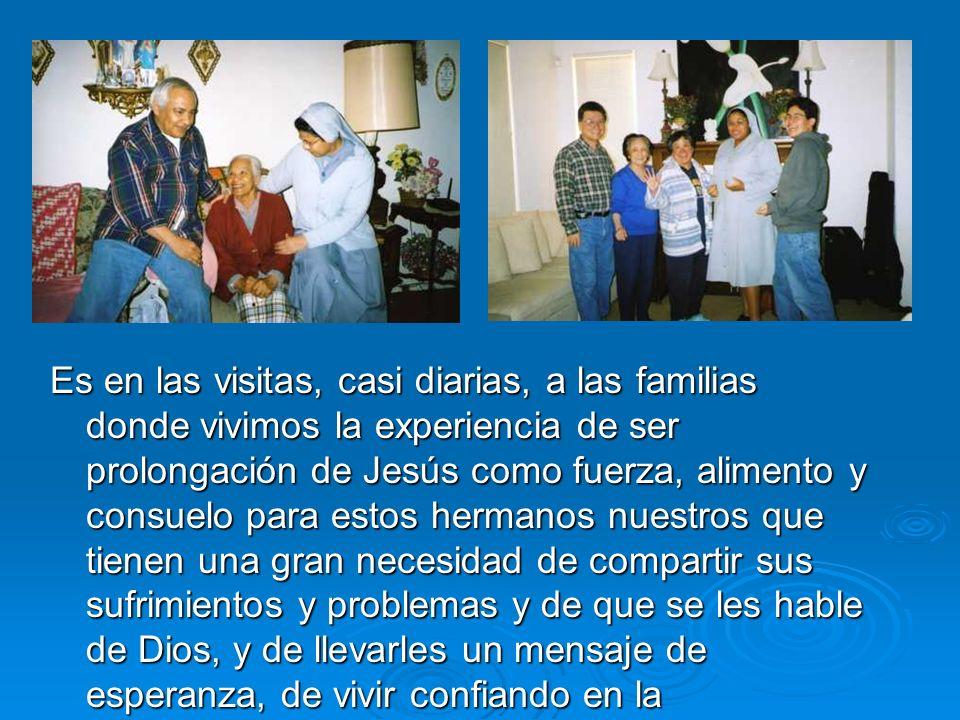 Una forma de entrar en los hogares y conocer a muchas familias en nuestra parroquia fue acompañar al Padre García.