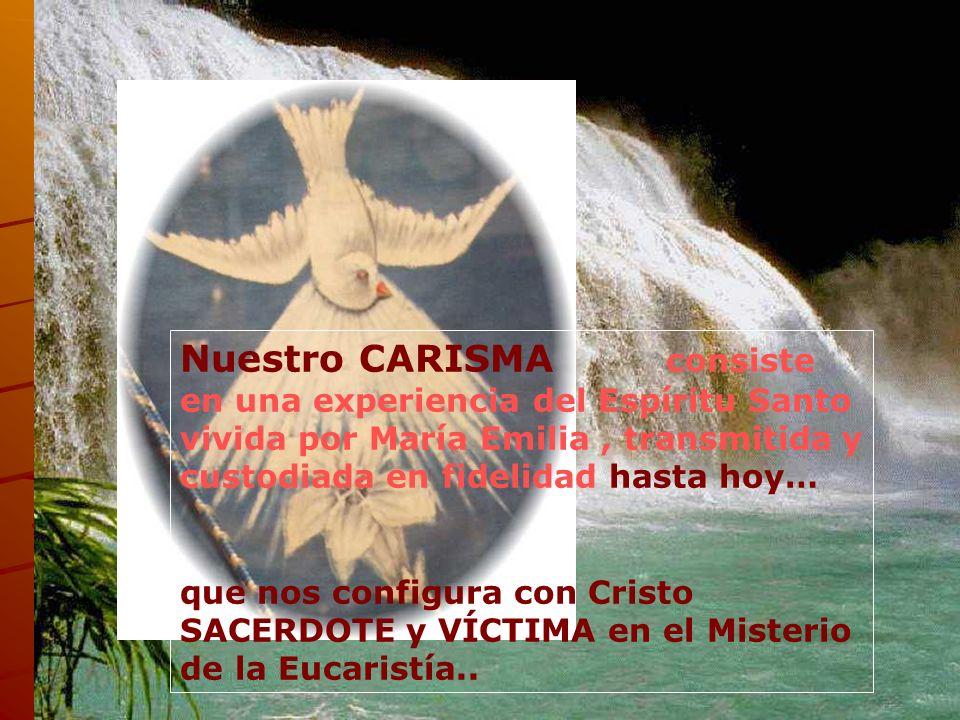 El espíritu lleva a maría emilia a la vivencia y profundidad del misterio de la eucaristía.. Es María Emilia Riquelme y Zayas quien el 25 de marzo de
