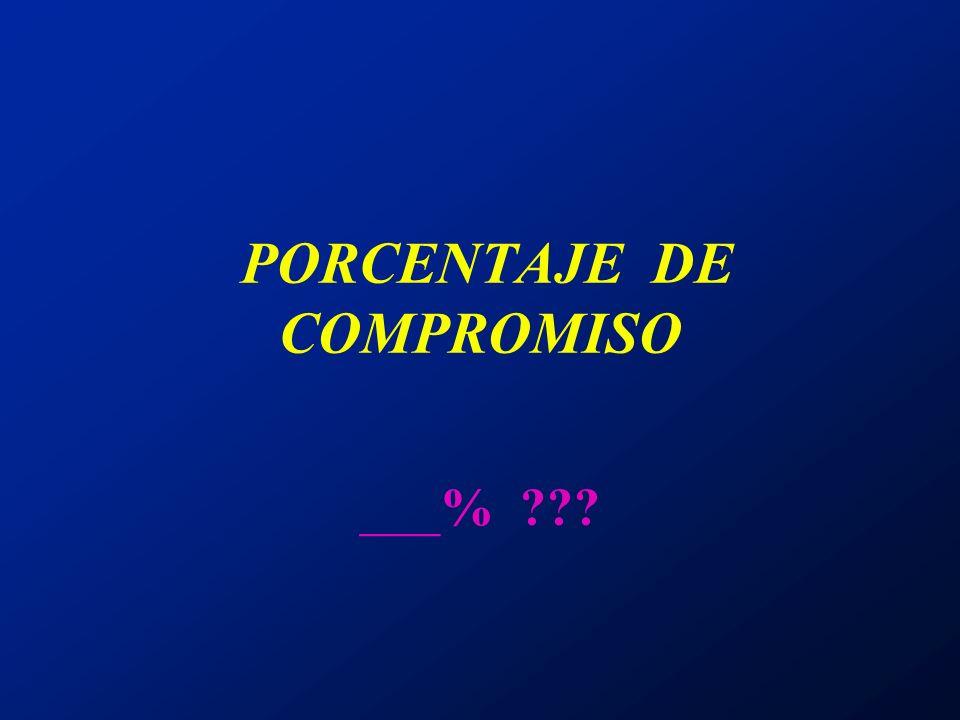 PORCENTAJE DE COMPROMISO ___% ???