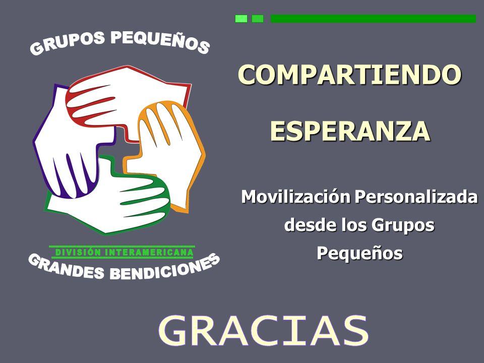 157 COMPARTIENDO ESPERANZA Movilización Personalizada desde los Grupos Pequeños