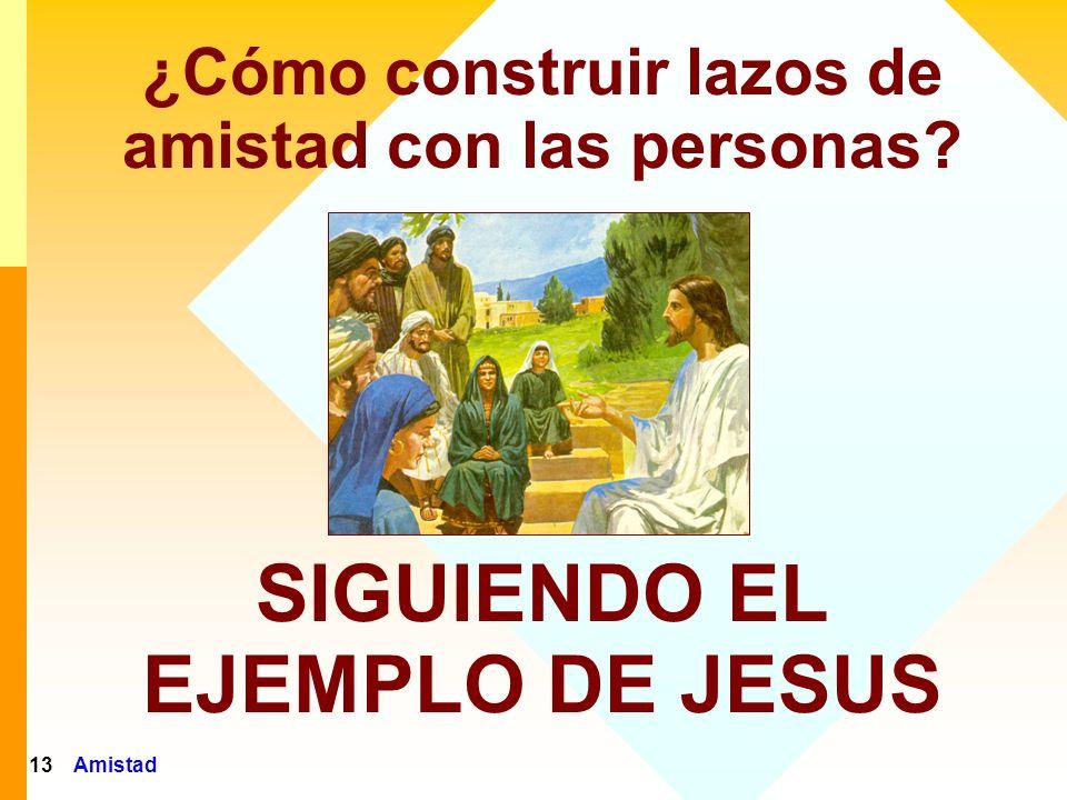Amistad14 Jesús conquistaba a las personas por el Amor: Concordaba con ellas siempre que podía Demostraba Aprobación...