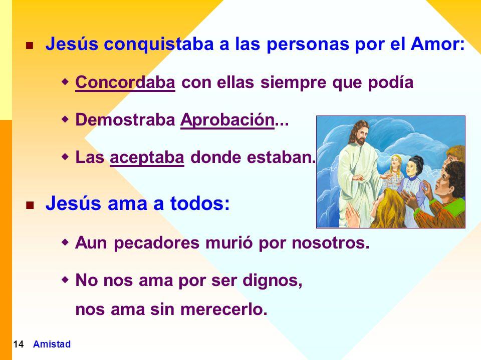 Amistad15 Jesús CONCORDABA con las personas siempre que podía.