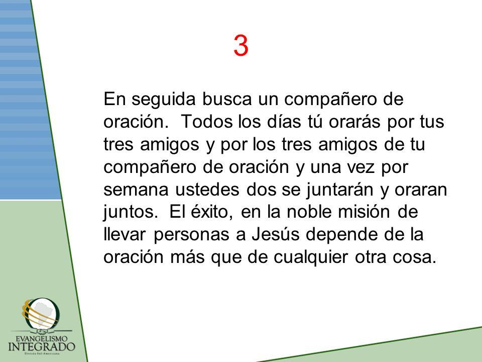 14 Enséñales a seguir estos pasos para que ellos también empiecen a orar por tres personas y después tu empieza a orar por otros tres.