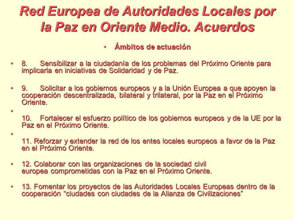 Red Europea de Autoridades Locales por la Paz en Oriente Medio.