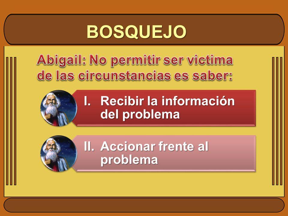BOSQUEJO I.Recibir la información del problema II.Accionar frente al problema