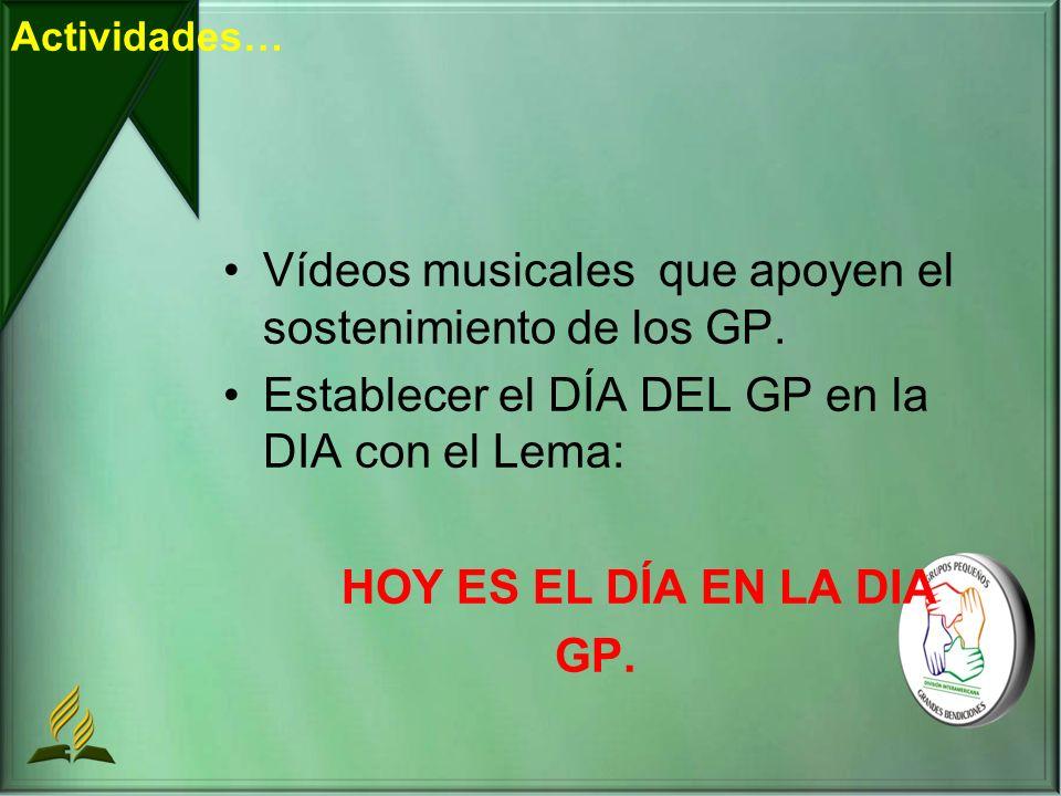 Vídeos musicales que apoyen el sostenimiento de los GP.