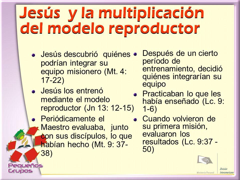 Jesús y la multiplicación del modelo reproductor Jesús descubrió quiénes podrían integrar su equipo misionero (Mt.