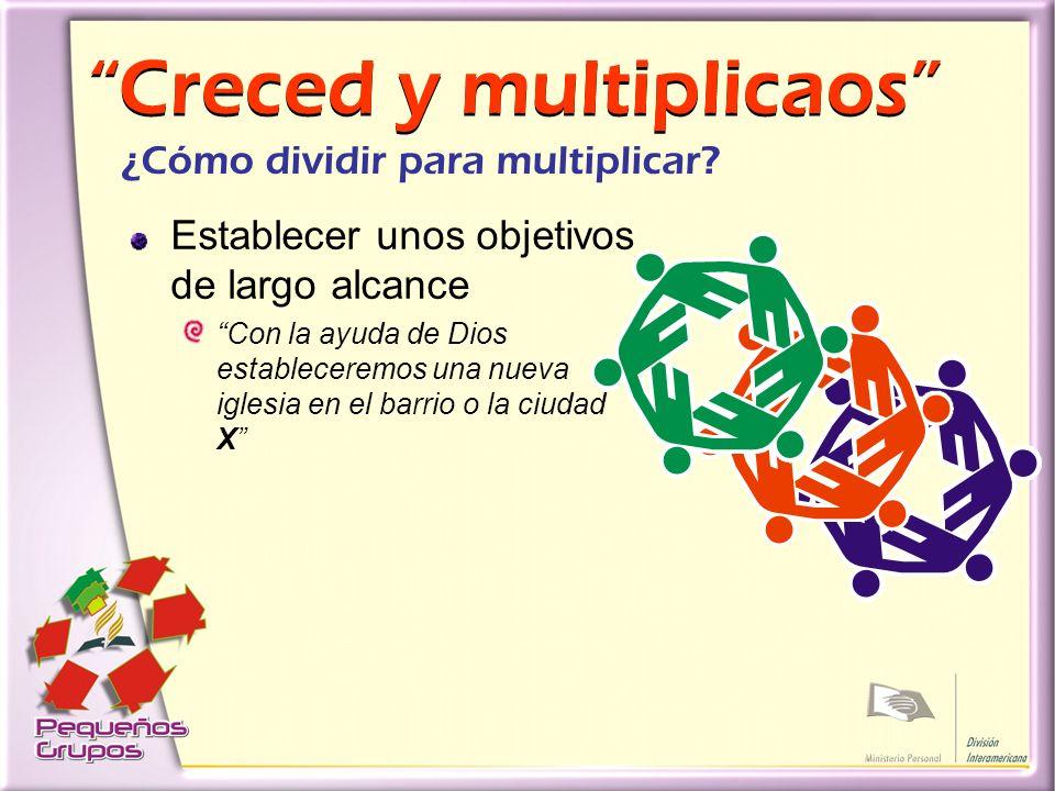 Creced y multiplicaos Creced y multiplicaos ¿Cómo dividir para multiplicar.