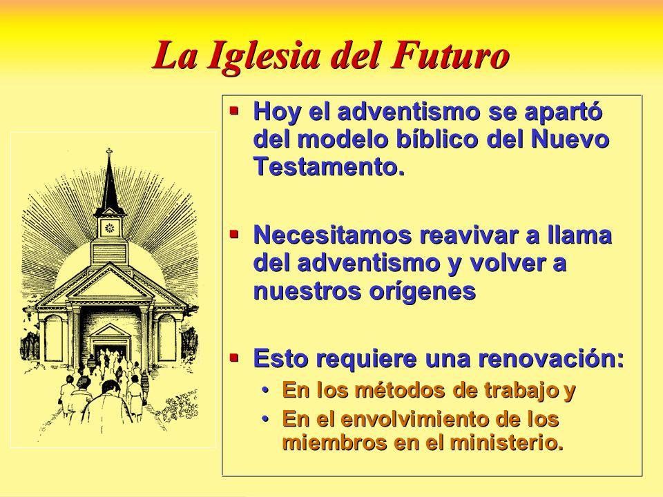 La Iglesia del Futuro Hoy el adventismo se apartó del modelo bíblico del Nuevo Testamento. Necesitamos reavivar a llama del adventismo y volver a nues