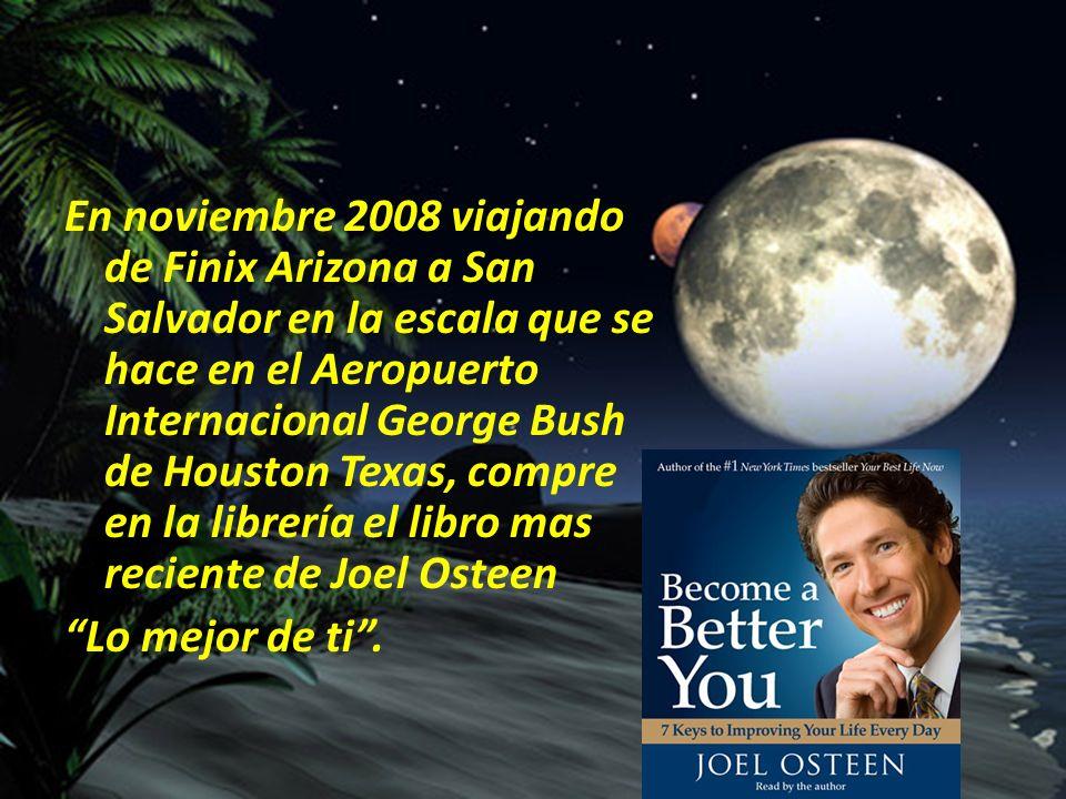 En noviembre 2008 viajando de Finix Arizona a San Salvador en la escala que se hace en el Aeropuerto Internacional George Bush de Houston Texas, compr