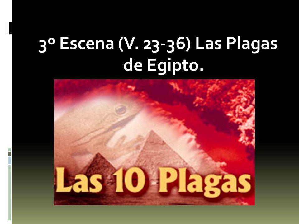 3º Escena (V. 23-36) Las Plagas de Egipto.