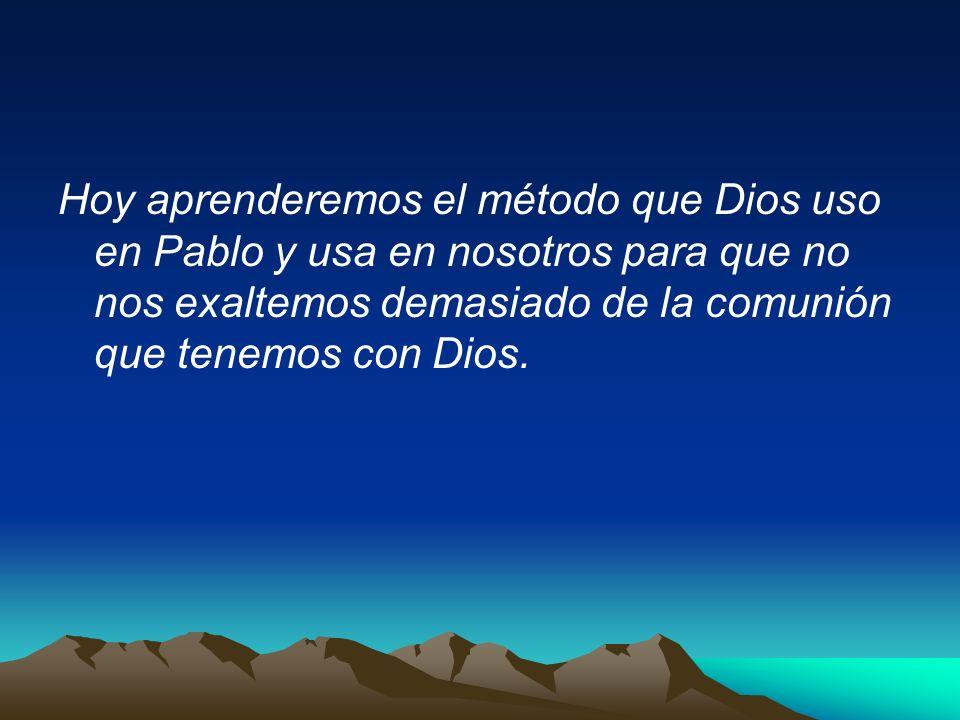 1.(V.1-4) El arrebatamiento o Rapto de Pablo al tercer cielo.