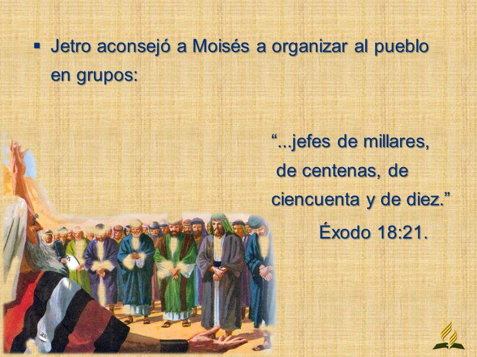 El (Dios) se propone que aprendamos lecciones de orden y organización del orden perfecto instituido en los días de Moisés...