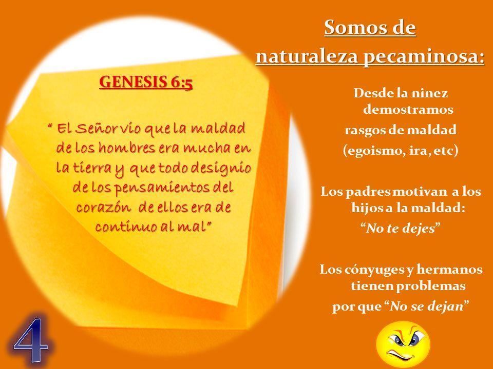 GENESIS 6:5 El Señor vio que la maldad de los hombres era mucha en la tierra y que todo designio de los pensamientos del corazón de ellos era de conti