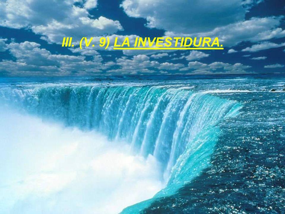 III. (V. 9) LA INVESTIDURA.