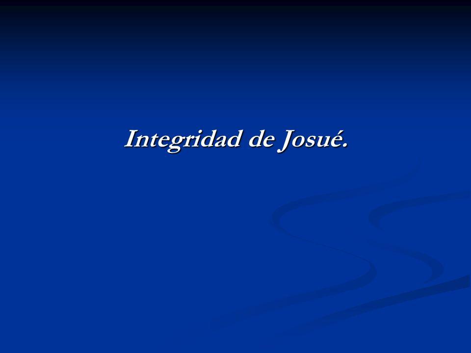 Integridad de Josué.