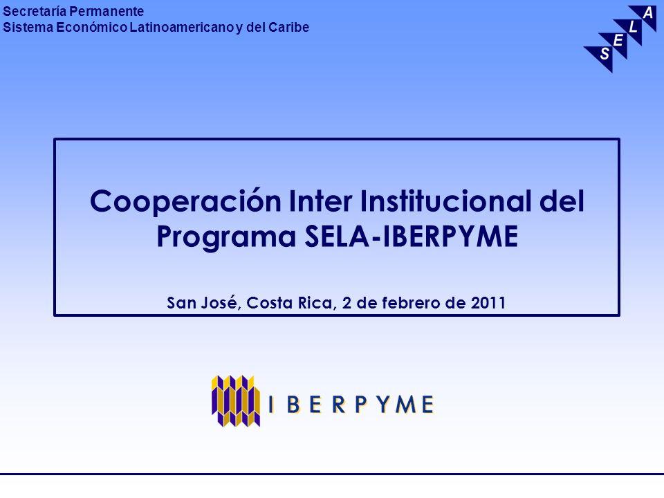 Secretaría Permanente Sistema Económico Latinoamericano y del Caribe SELA ORGANISMO INTERGUBERNAMENTAL DE 28 PAISES DE ALCPROMUEVE COOPERACION, CONSULTA Y COORDINACION APOYA: INTEGRACION REGIONAL PROYECTOS ECONOMICO – SOCIALES AUTORIDAD MAXIMA: CANCILLERESSEDE: CARACAS2011: XXXVI ANIVERSARIO