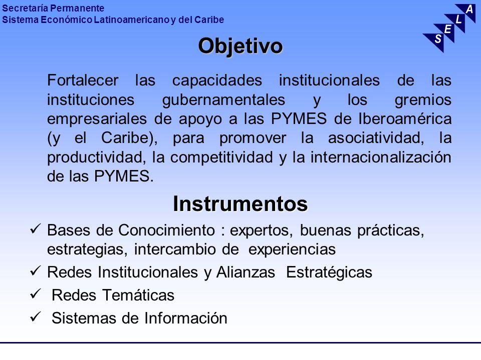 Secretaría Permanente Sistema Económico Latinoamericano y del Caribe Objetivo Fortalecer las capacidades institucionales de las instituciones gubernam