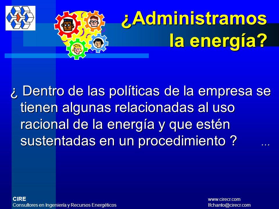 ¿ Existe un responsable de la gestión energética en nuestra empresa ? ¿ El responsabletiene funciones bien definidas con un nivel de influencia como c