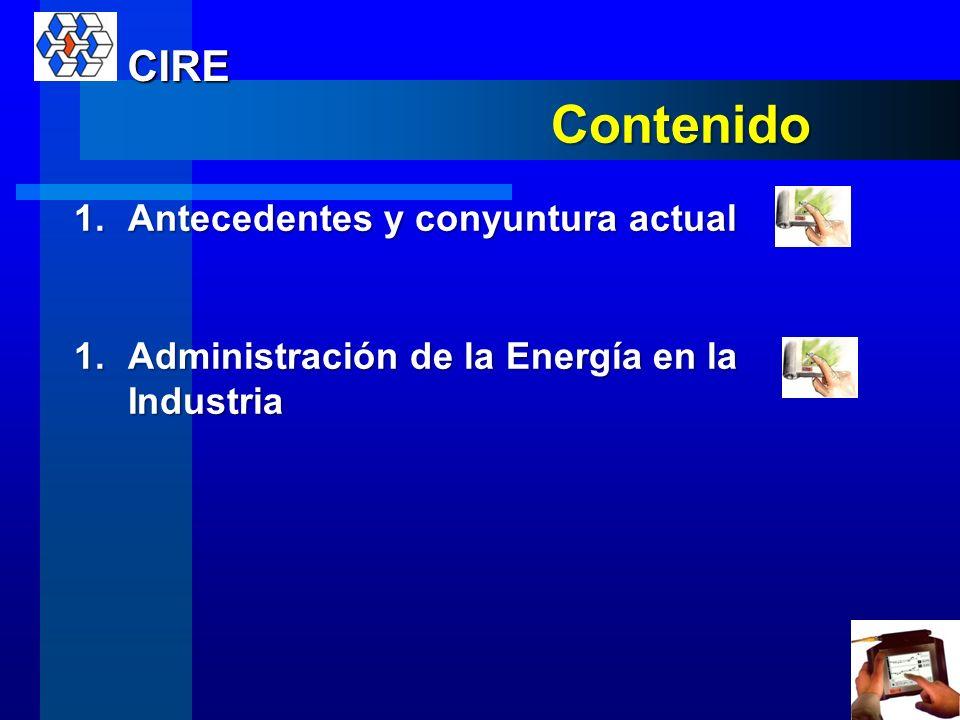 Administración de la Energía en la Industria Profesor: Ing. Luis Fernando Chanto J. CIRE