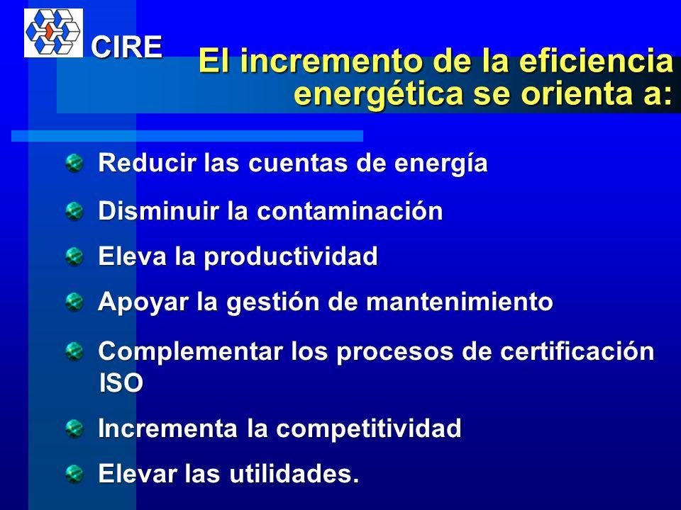 La eficiencia energética se logra, cuando se reduce el consumo de energía en la elaboración de las mismas unidades productivas (consumo de energía por