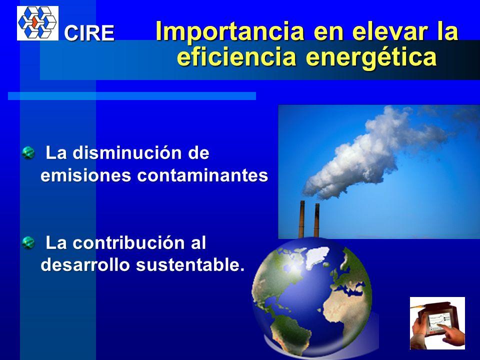 El incremento de la eficiencia energética se orienta a: Reducir las cuentas de energía Disminuir la contaminación Eleva la productividad Apoyar la ges