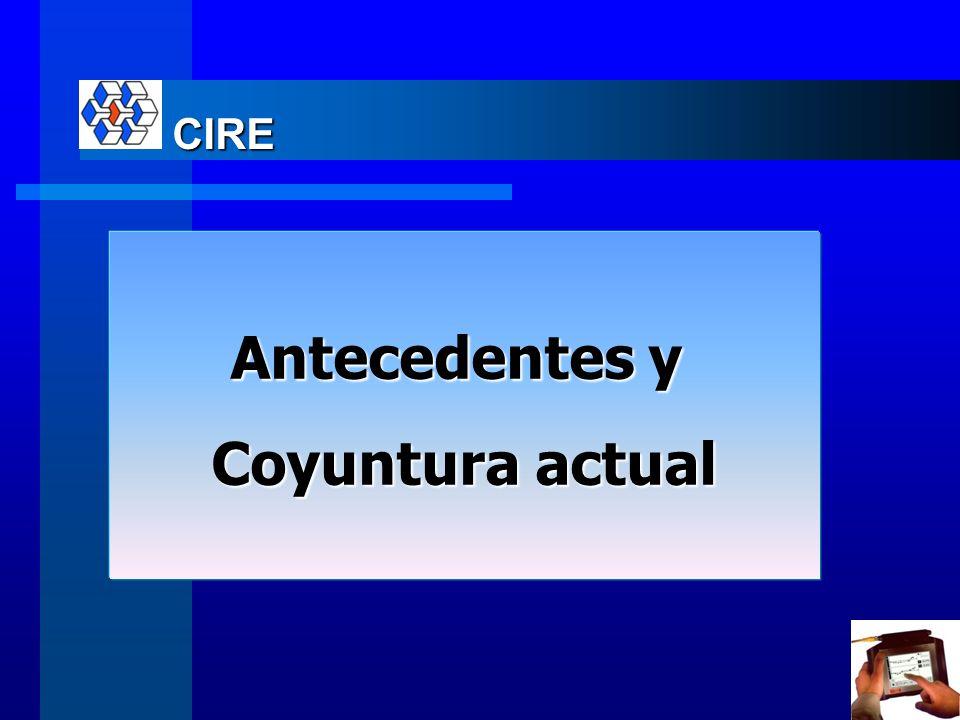 Contenido 1.Antecedentes y conyuntura actual 1.Administración de la Energía en la Industria CIRE