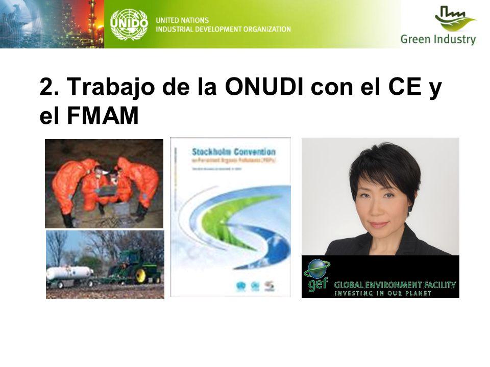 2. Trabajo de la ONUDI con el CE y el FMAM