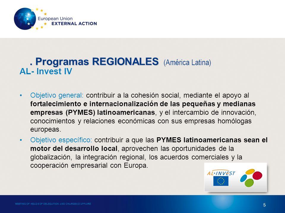 4.Programas SUBREGIONALES 4.