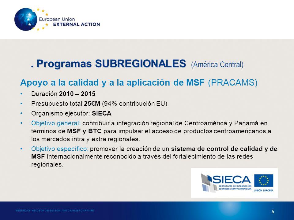 4. Programas SUBREGIONALES 4.