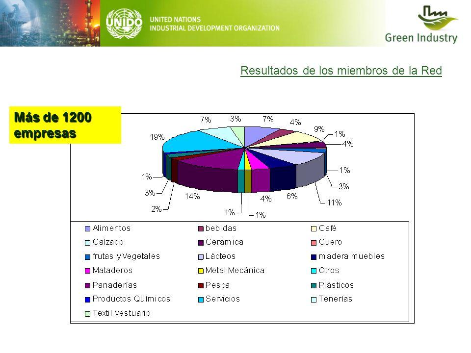 Más de 1200 empresas Resultados de los miembros de la Red