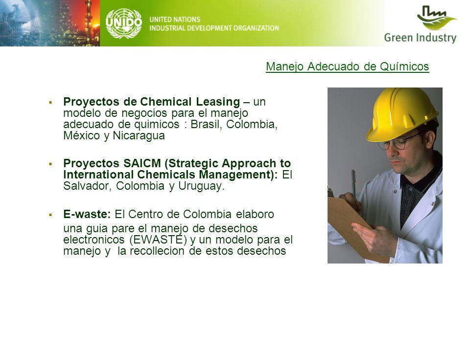 Manejo Adecuado de Químicos Proyectos de Chemical Leasing – un modelo de negocios para el manejo adecuado de quimicos : Brasil, Colombia, México y Nic