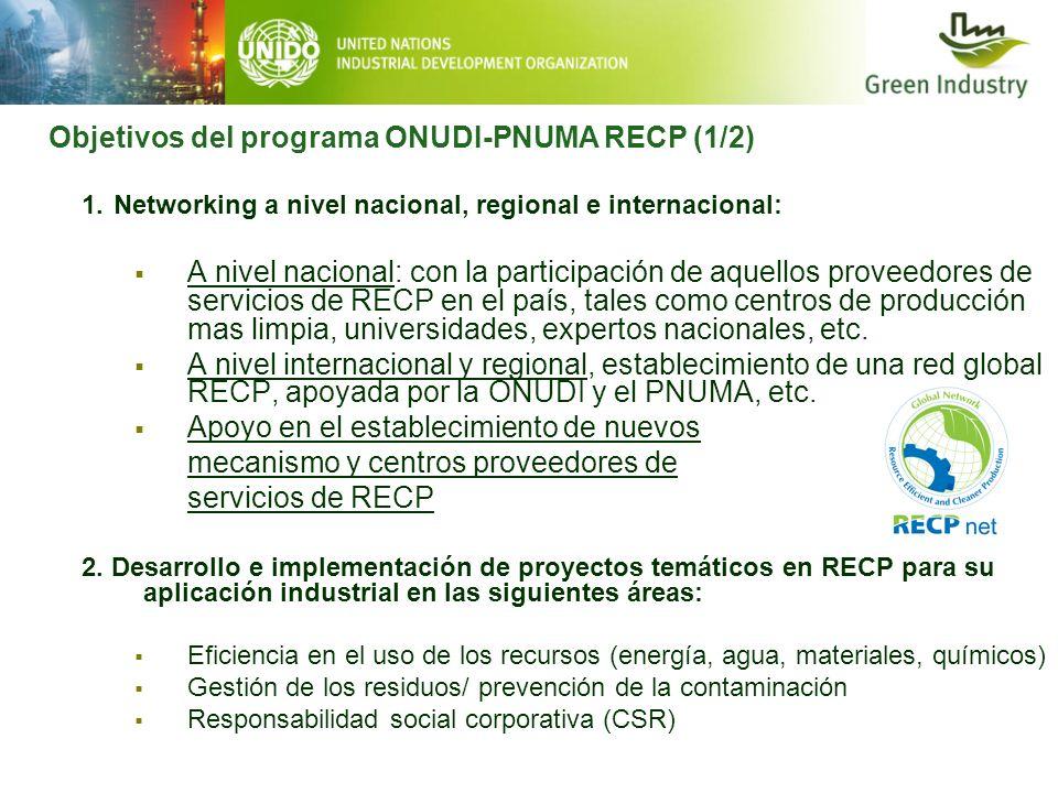 1. Networking a nivel nacional, regional e internacional: A nivel nacional: con la participación de aquellos proveedores de servicios de RECP en el pa