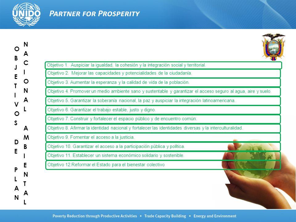 Objetivo 1. Auspiciar la igualdad, la cohesión y la integración social y territorial. Objetivo 2. Mejorar las capacidades y potencialidades de la ciud