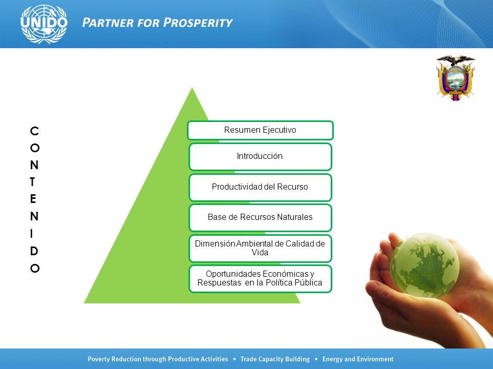 Resumen Ejecutivo IntroducciónProductividad del RecursoBase de Recursos Naturales Dimensión Ambiental de Calidad de Vida Oportunidades Económicas y Re