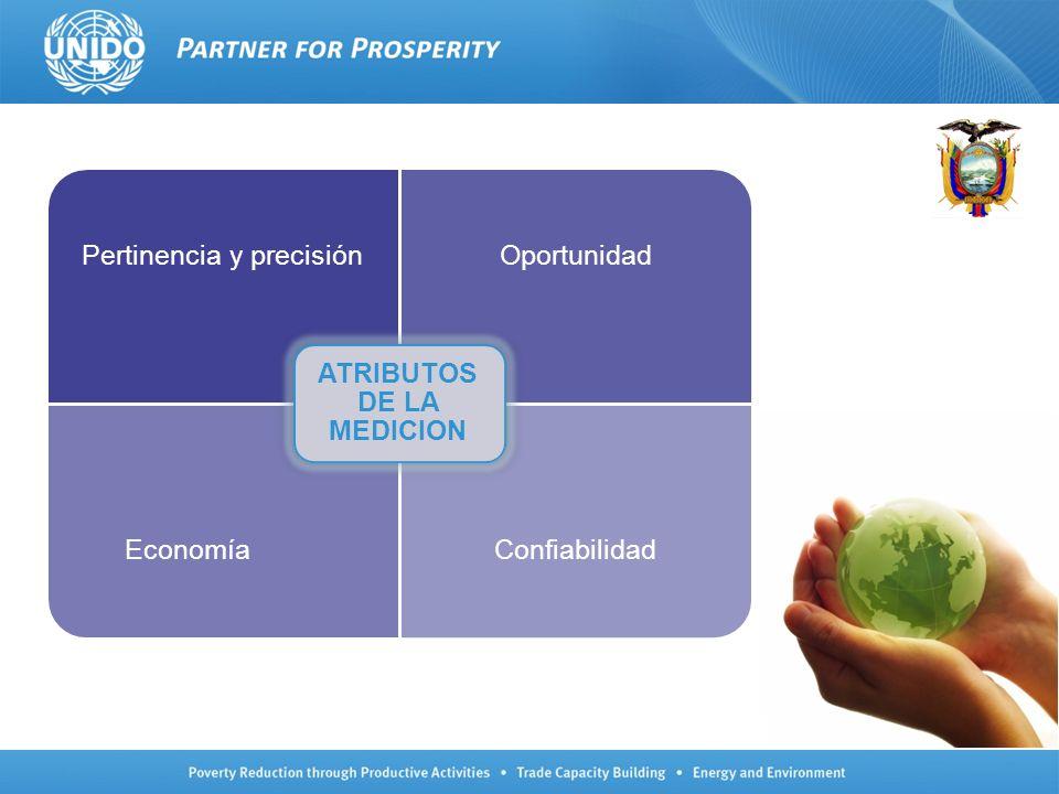 Pertinencia y precisiónOportunidad EconomíaConfiabilidad ATRIBUTOS DE LA MEDICION