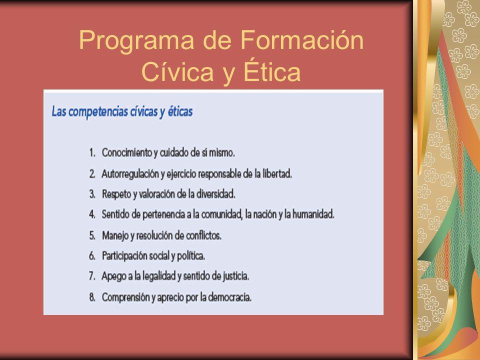 Programa de Formación Cívica y Ética