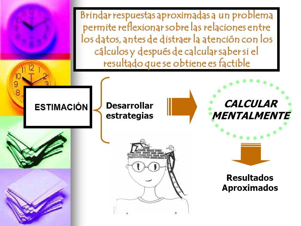 Brindar respuestas aproximadas a un problema permite reflexionar sobre las relaciones entre los datos, antes de distraer la atención con los cálculos