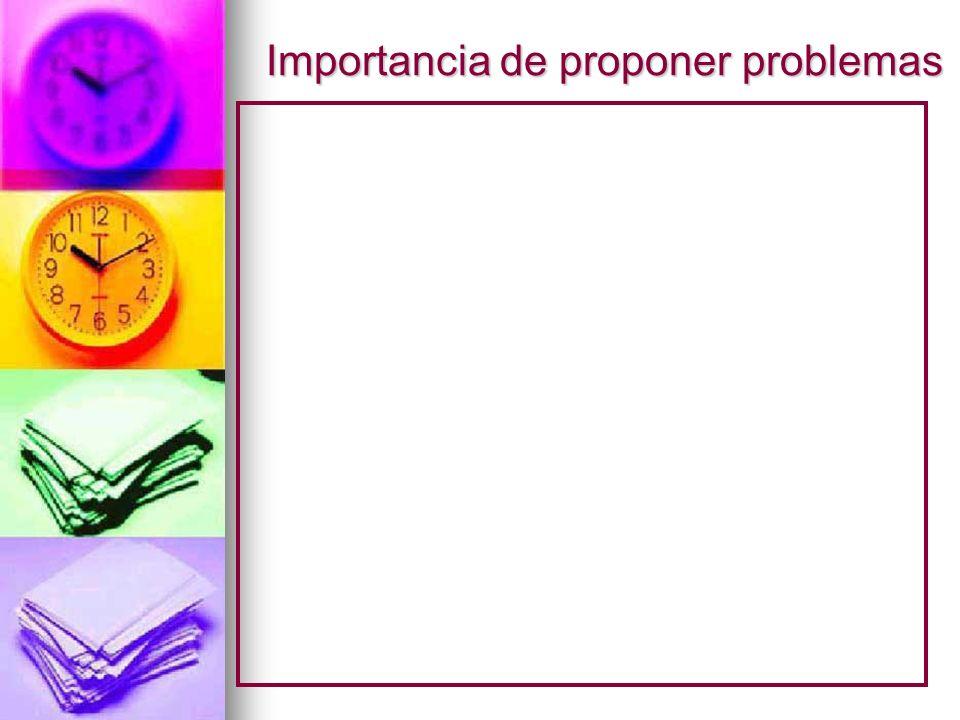 Importancia de proponer problemas