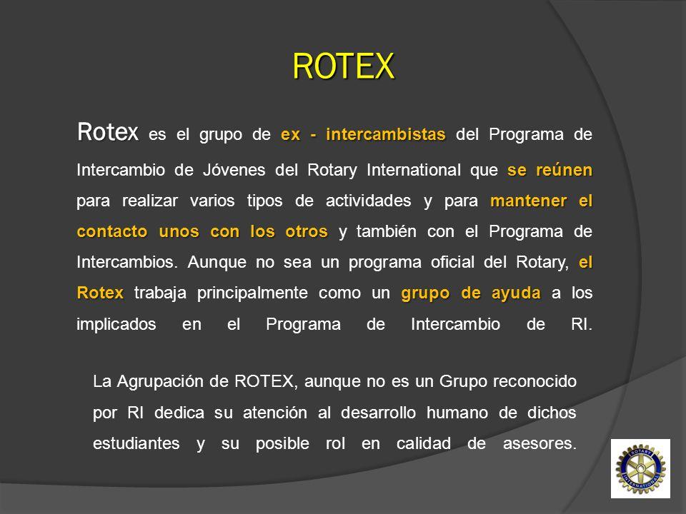 Rotex ex - intercambistas se reúnen mantener el contacto unos con los otros el Rotexgrupo de ayuda Rotex es el grupo de ex - intercambistas del Progra