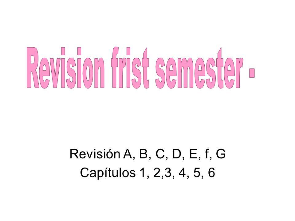 Revisión A, B, C, D, E, f, G Capítulos 1, 2,3, 4, 5, 6