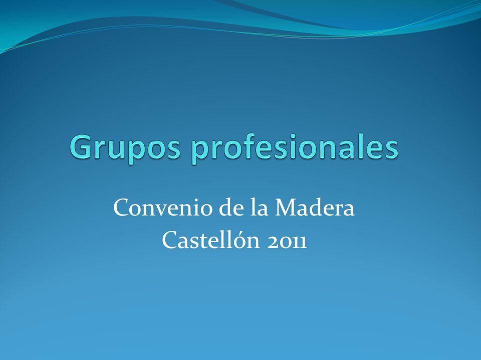 Grupos Profesionales El objetivo es trasladar las Categorías actuales a los Nuevos Grupos Profesionales.
