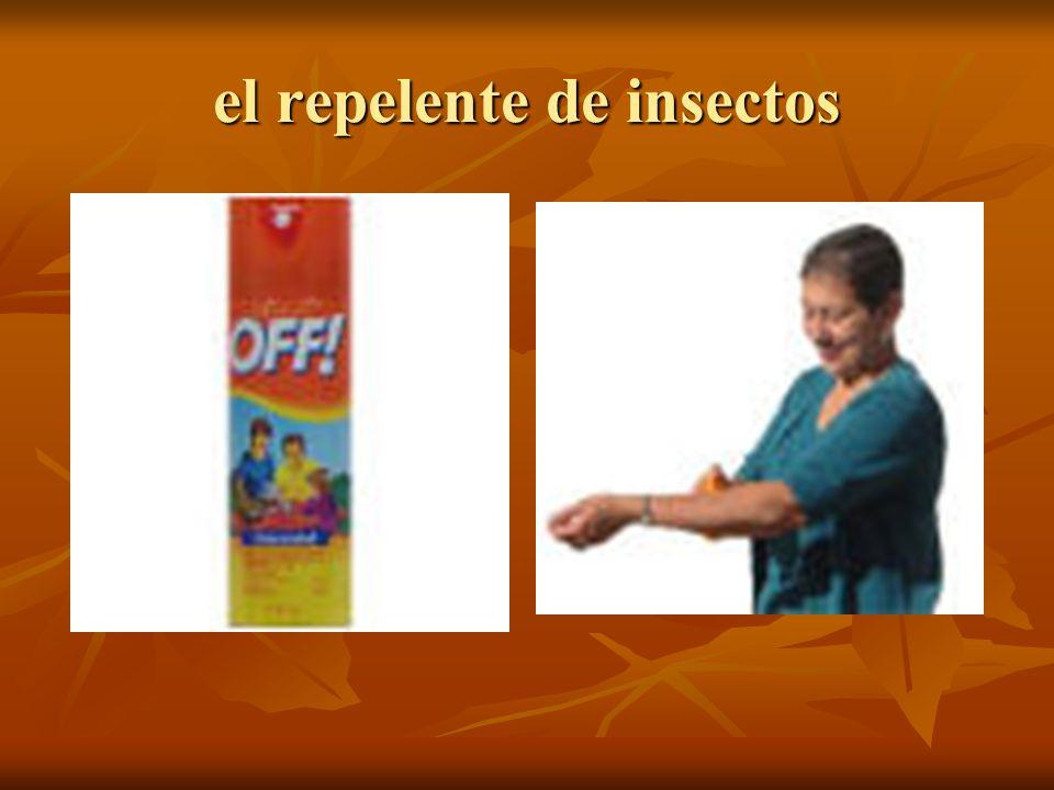 el repelente de insectos